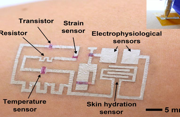 New Form of Wearable Electronics can be Directly Drawn on Skin with Multifunctional Sensors and Circuits