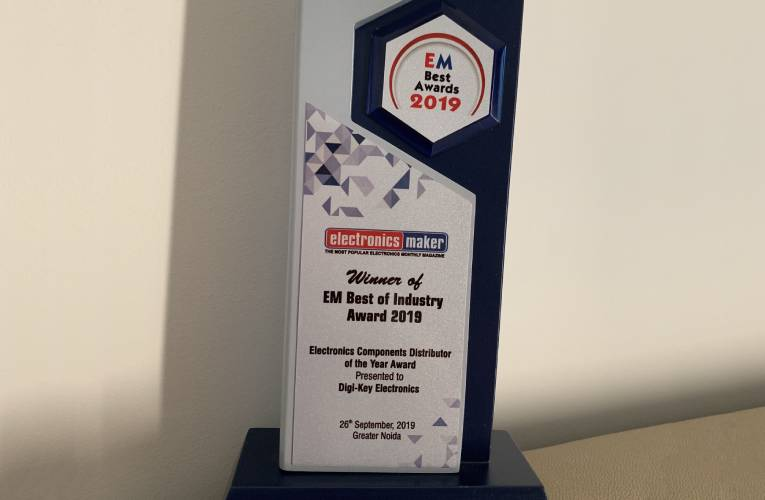 Digi-Key Awarded Electronics Components Distributor of the Year 2019 Award by Electronics Maker