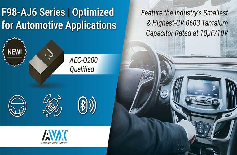 F98-AJ6 Series Capacitors from AVX Corporation