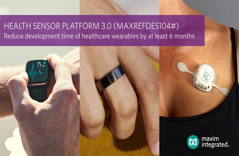 MAXREFDES104# Health Sensor Platform 3.0 from Maxim Integrated