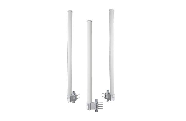 2 GHz, 3 GHz, and 5 GHz Dual Band Omni Antennas reduces tower rental and installation costs