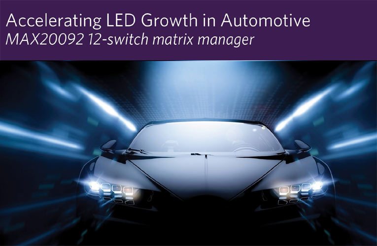 LED Matrix Manager for High-Density Automotive Matrix and Pixel Lighting