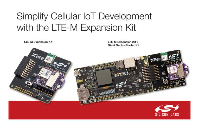 LTE-M Expansion Kit for Low-Power Cellular IoT Applications
