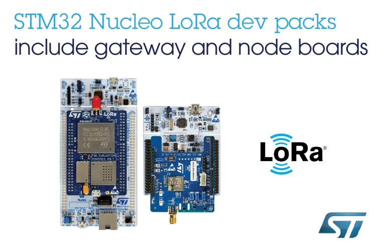 STM32 Nucleo LoRa Development Boards