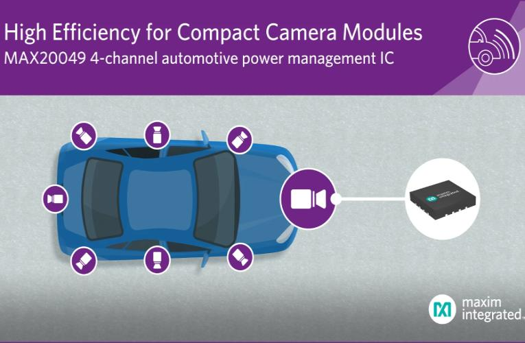 Compact 4-Channel Automotive Power Management IC for Vehicle Camera Modules