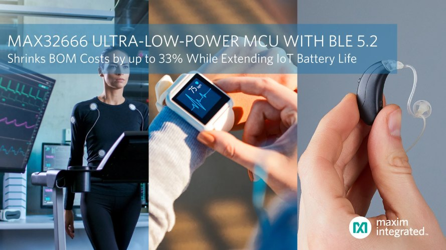 MAX32666 Ultra-Low-Power Dual Core Microcontroller