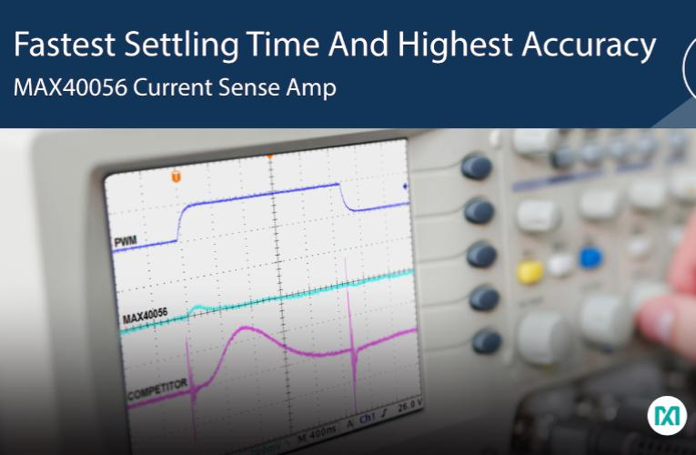 Bi-directional Current Sense Amplifier with PWM Rejection Offers High Accuracy and Fast Settling Time for Greater Motor Efficiency