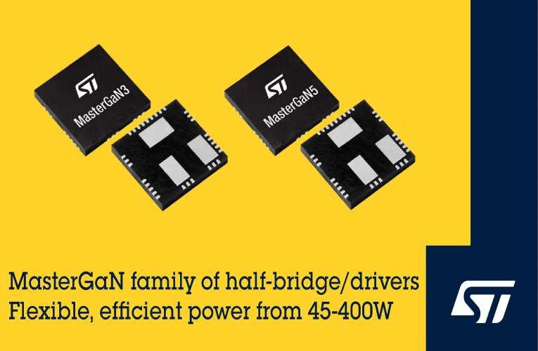 MasterGaN Integrated Half-Bridge Drivers