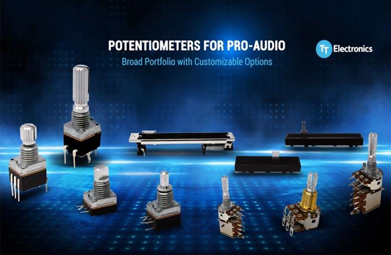 TT Electronics' Pro-Audio Potentiometers