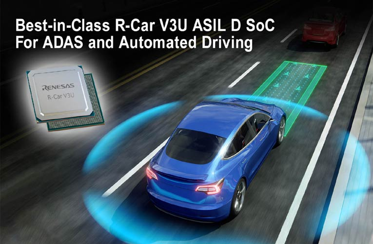 R-Car V3U ASIL D System on Chip from Renesas