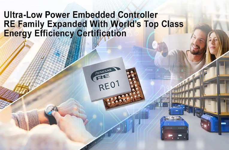 Renesas' RE01 Family Embedded Controllers