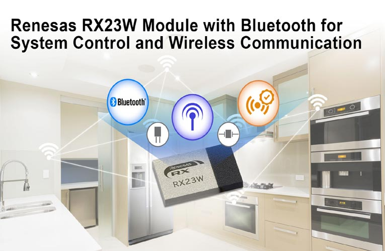 Renesas' RX23W Module with Bluetooth 5.0 Low Energy Support
