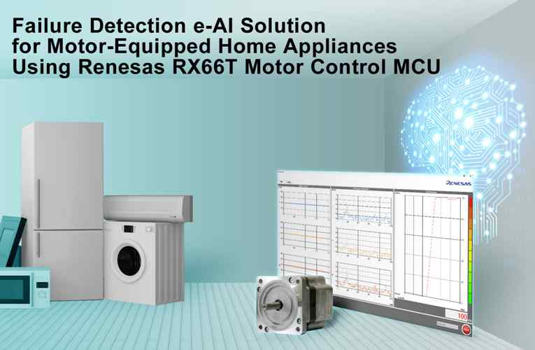 Renesas RX66T 32-bit Microcontroller gets Failure Detection e-AI Solution for Motor Equipped Home Appliances