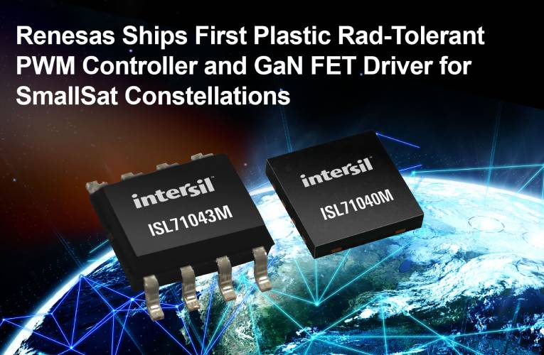 Plastic Packaged Radiation-Tolerant PWM Controller and GaN FET Driver for Space SmallSats