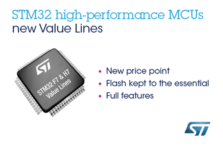 High-Performance STM32 Value Lines from STMicroelectronics Boost Real-Time IoT-Device Innovation