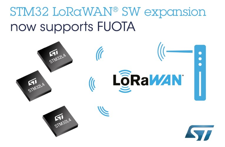 ST Adds Support for LoRaWAN Firmware Update Over The Air in the STM32Cube Ecosystem