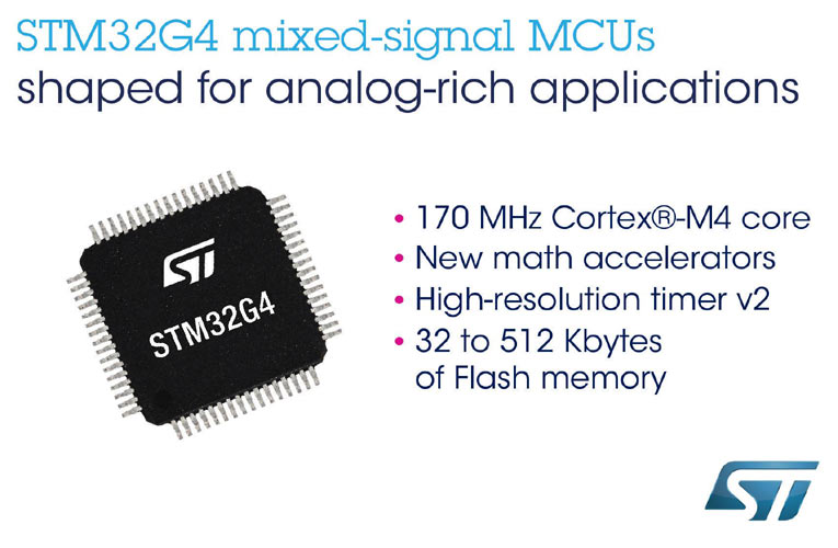 STM32G4 Microcontrollers for Better Performance, Efficiency, and Security of Next-Generation Digital Power Applications