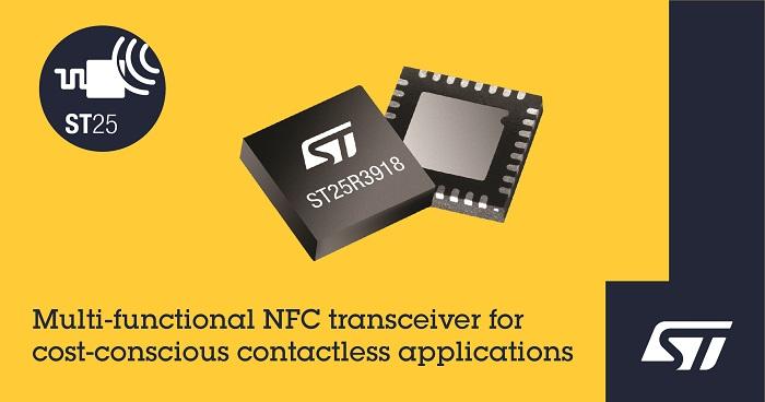 Multi-Functional ST25R3918 NFC Transceiver
