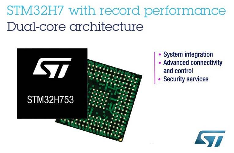 STMicroelectronics STM32H7 Dual core ARM Cortex-M Microcontroller