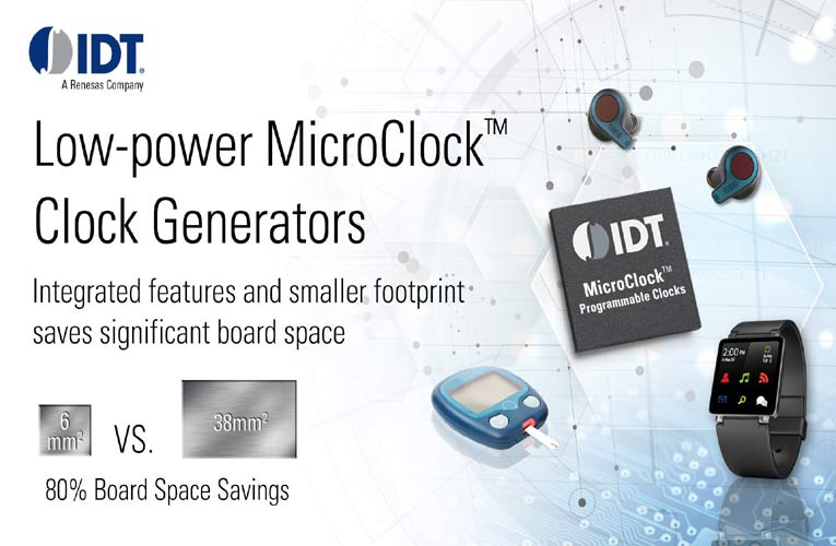 Ultra-Low-Power Miniature Programmable Clock Generator for Wearables and IoT Applications