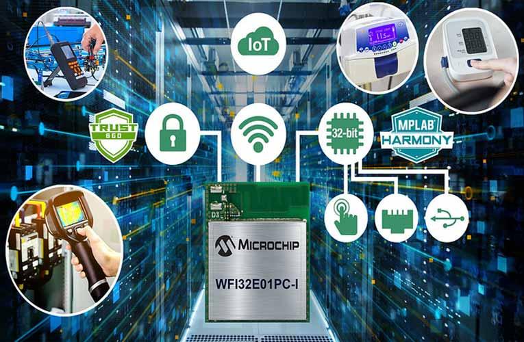 WFI32E01PC 32-bit Wi-Fi Microcontroller Module from Microchip