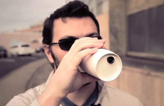 Arduino Coffee Cup Spy Camera