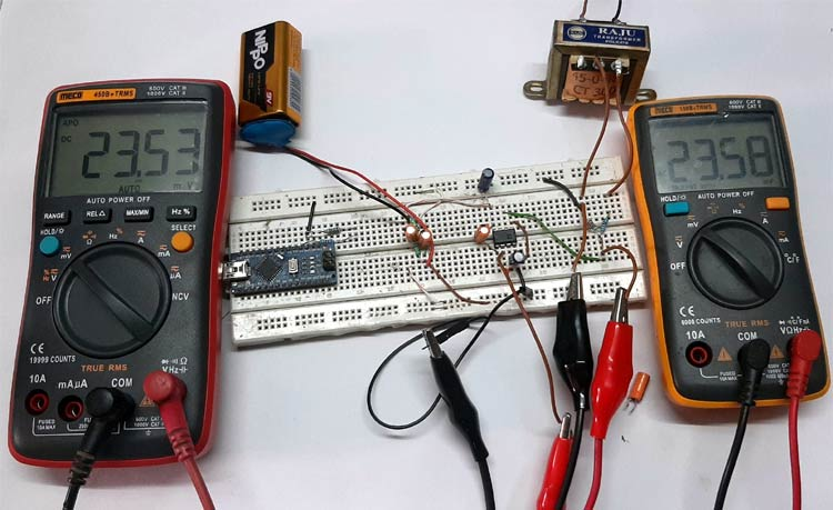 True RMS to DC Converter using IC AD736