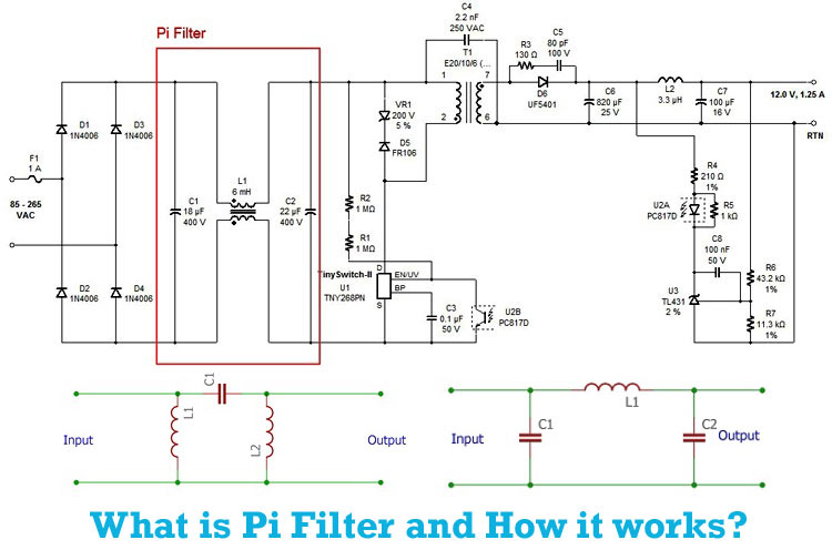 Pi Filter Overview Working Construction Application And Design Tips