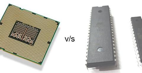 What is the difference between microprocessor and microcontroller?