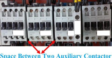 Space between Auxiliary Contactors
