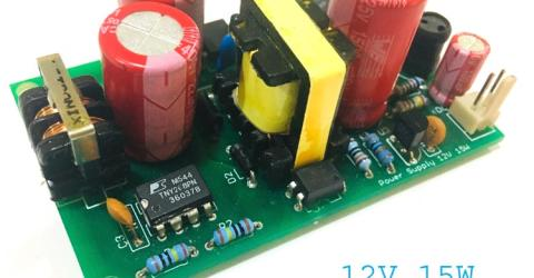 12v 1A SMPS Power Supply Circuit Assembled PCB