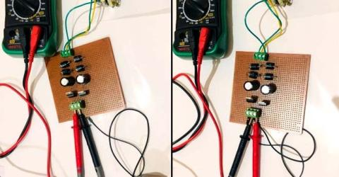 +12V and -12V Dual Power Supply Circuit