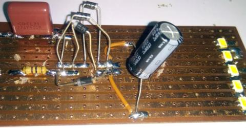 230V AC LED Driver Circuit Board