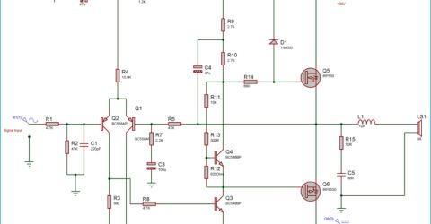 50 Watt Power Amplifier using MOSFETs