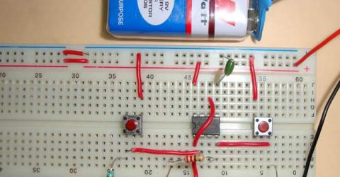 555 Timer Bistable Multivibrator Circuit