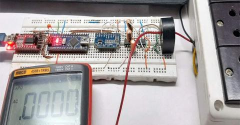 AC Current Measurement using Current Transformer and Arduino