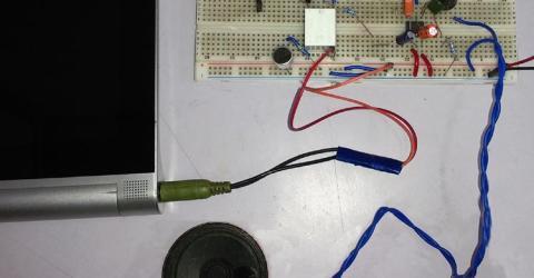 Audio Voice-over circuit using LM386