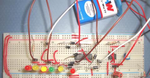 Dancing LEDs Circuit using 555 Timer IC
