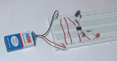 Simple LDR Circuit for Dark Detecting