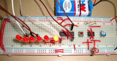 Digital Dice Circuit using 555 Timer IC