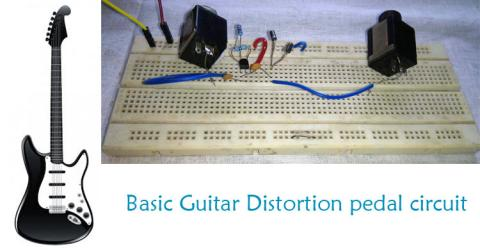 Guitar Distortion Pedal Circuit