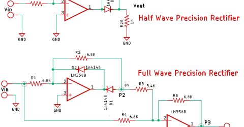 Half Wave and Full Wave Precision Rectifier Circuit using Op-Amp