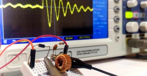 How to measure value of Inductor or Capacitor using Oscilloscope – Resonant Frequency Method
