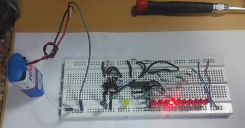 LED Chaser Circuit using IC 555