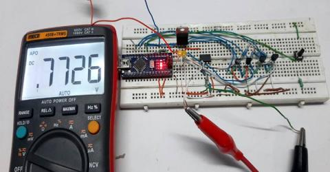 Programmable Gain Amplifier using MOSFET and Transistor