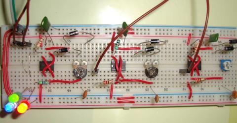 RGB LED Bulb using 555 Timer ICs