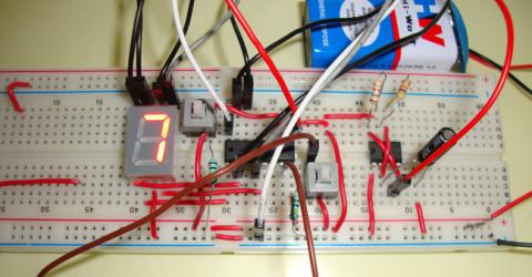 Reaction Timer Game using IC 555 and IC 4026