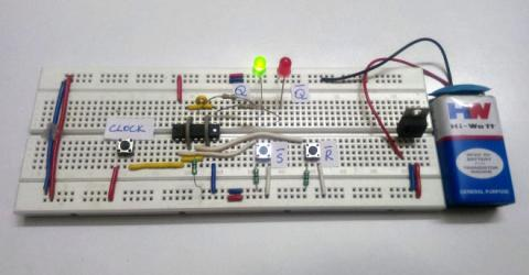 SR Flip-Flop Circuit Diagram with NAND Gates