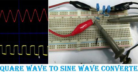 Square wave to Sine Wave Converter