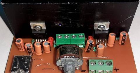 Simple 2x32 Watt Audio Amplifier with TDA2050